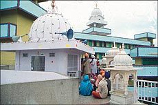 A view of the gurdwara at Mairhi