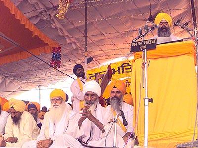 Bhai RaBhai Ranjit Singh addresses a gathering at Anandpur Sahib