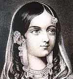 Zeenat Mahal, wife of Bahadur Shah Zafar, last Mughal Emperor.