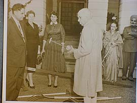 With Prime Minister Jawaharlal Nehru