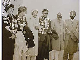 The Saunds with Punjab Chief Minister Partap Singh Kairon and colleagues