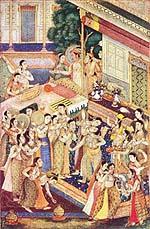 Mugal paintings Erotic