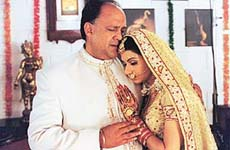 Bhagyashree and Alok Nath in Maa Santoshi Maa.