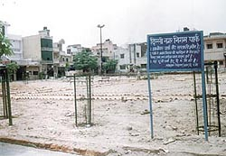 Residents have finally wrested control of the park from the local Ram Leela Mandali