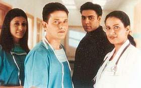 Kabir in blue as Dr Rizwan in Dhadkan: A much-in-demand star.