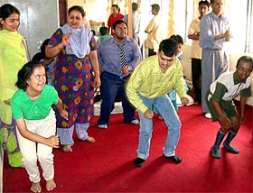 Mentally challenged children learn the basic facts of life in a fun