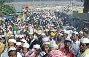 The start of the three-day annual Biswa Ijtema, the world's second largest Muslim gathering after the Haj