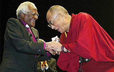 Desmond Tutu en de Dalai Lama