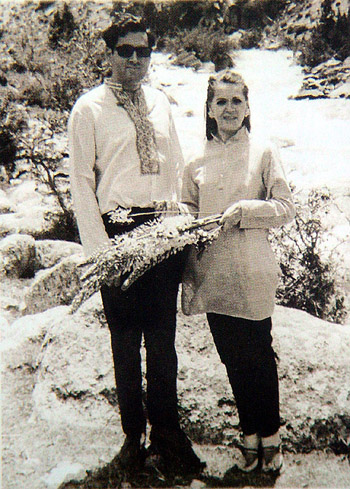 Sonia with Rajiv Gandhi in England prior to their marriage.