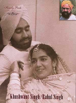 Khushwant Singh and Kaval Malik soon after their marriage