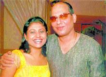 Jha with Jaya Bhattacharya......Play acting