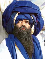 Baba Harnam Singh, soon after his anointment as acting Jathedar of Damdami Taksal at Chowk Mehta in Amritsar district