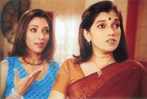 Rupali Ganguli and Ratna Pathak Shah in Sarabhai vs Sarabhai