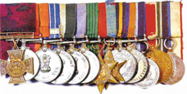 Victoria Cross and other medals awarded to Sub-Maj Aagan Singh Rai, which were auctioned in London recently for £115,000