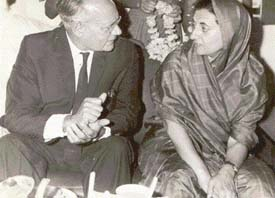 M.S Randhawa with S. Radhakrishnan and (below) with Indira Gandhi