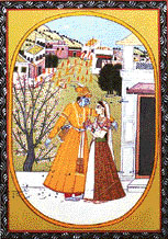 These great miniatures constitute a valuable record of ancient culture of Vaishnava faith. The universal feelings of love and romance were conveyed through ideal and spiritual love of Radha and Krishna.