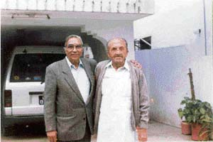 Reunion after 50 years: Pran Nevile with his classmate Saeed Ahmad Khan