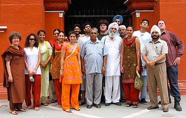 Participants for the 10th annual Punjab Studies Programme with Prof Gurinder S. Mann at Baring Christian College, Batala.