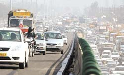 Gurgaon flyover inaugurated by the people...