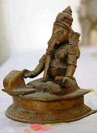 Lord Ganesha operating the computer!