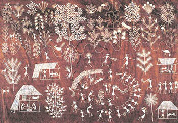 The sunday tribune spectrum the name warli painting has emerged from the tribe called warlis who live in thane district of maharashtra the traditional drawings in warli paintings thecheapjerseys Gallery