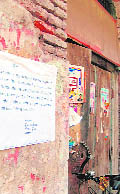 A shop to be demolished for the last phase of the Galliara project in Amritsar.
