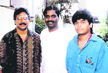 Rahman with director Mani Ratnam and national award-winning lyricist Vairamuthu