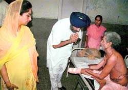 Deputy Chief Minister Sukhbir Singh Badal and his MP wife Harsimrat