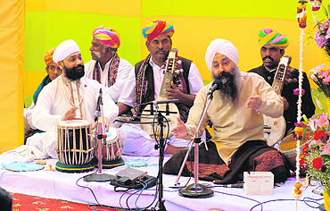 Baldeep Singh ? a vocalist as well as percussionist ? is the 13th generation exponent of the Sikh kirtan maryada