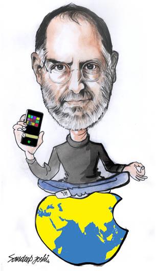 Steve Jobbs Illustration by Sandeep Joshi