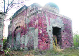 A mosque in a dilapidated condition.