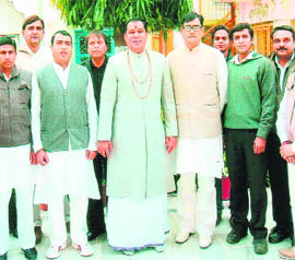 Chief and workers of the Samajwadi Lohiyawahini Party, who joined the Congress in Haridwar on Wednesday.