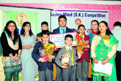 The winners of the Master Mind Competition in Dehradun on Sunday