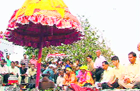 A sacred umbrella of the local deity being worshipped.