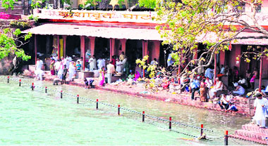 The ancient Kushavrat Ghat.