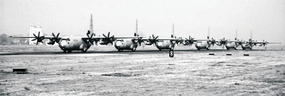 The IAF's fleet of C-130J Super Hercules, on the tarmac at Hindon Air Force Station. Induction of new platforms will give India considerable strategic capability