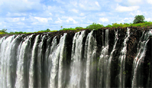 The Victoria Falls is neither the highest nor the widest waterfall in the world, but it forms the largest sheet of falling water in the world