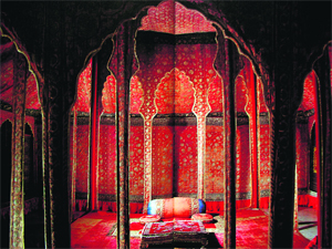 A segment of the Shahi Lal Dera 17th century Mughal tent. From the Royal & The Sunday Tribune - Spectrum