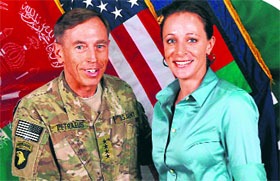 CIA Director General David Petraeus (left) lost his job when his tryst with his biographer Paula Broadwell (right) was exposed.