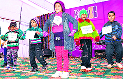 Children of employees perform a cultural programme as part of Family Day at Kirby Steels at SIDCUL in Haridwar on Sunday