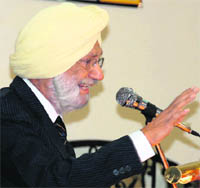The late Preminder Singh Sandhawalia speaking at the release of his book Beyond Identity.