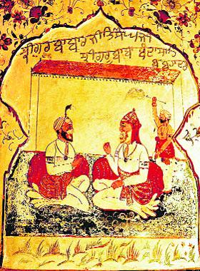 Wall paintings inside Dera Baba Banda Singh Bahadur at Riasi (Jammu)