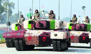 Indigenously developed Arjun tanks on parade in New Delhi. In many critical areas, the DRDO's performance has been characterised by inordinate delays and inability to incorporate latest technologies, resulting in unexpected problems at the series production stage