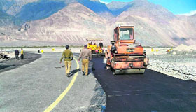 Border Roads Organisation personnel doing maintenance work in Ladakh.