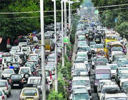 Image result for traffic mess in srinagar