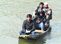 Shahid Kapoor during the shoot of Haider in Srinagar. Tribune photo