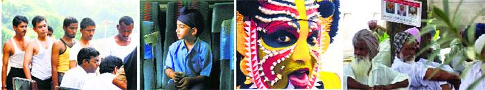 From left: Stills from Miriam Chandy's Rat Race, Shubhashish Bhutiani's Kush, GS Chani's Yakshagana and Daljit Ami's Not Every Time